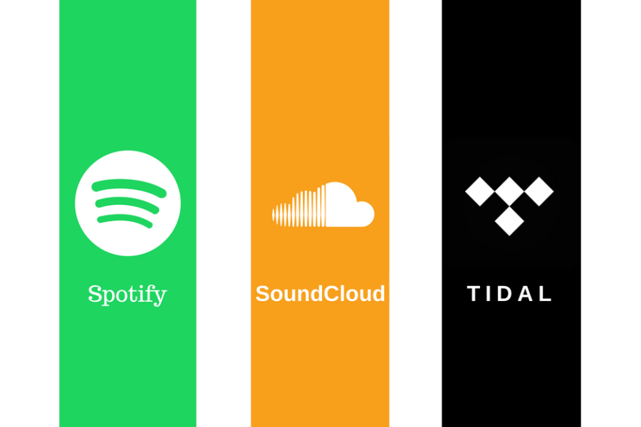 Spotify, TIDAL, SoundCloud